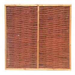 Willow Framed Woven Fence Panel 6ft x 6ft