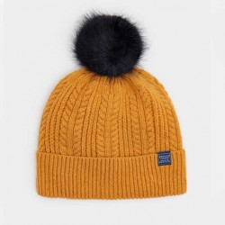 Joules Caramel Knitted Bobble Hat