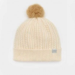 Joules Cream Knitted Bobble Hat