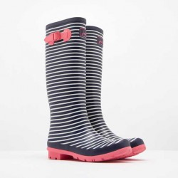 Joules Printed Wellies mini Navy Stripe