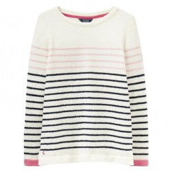 White Stuff Seaham Chenille Soft Pink Stripe Jumper