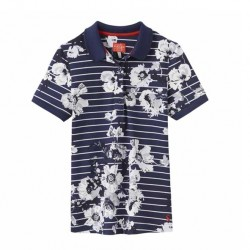 Joules Trinity French Navy Posy Stripe Polo