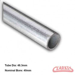 "Galvanised Mild Steel Plain Ended 1 1/2"" Tube  Kee Klamp Size 8"