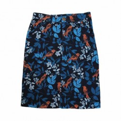Lily & Me Navy and Chilli Winter Birds Anna Cord Skirt
