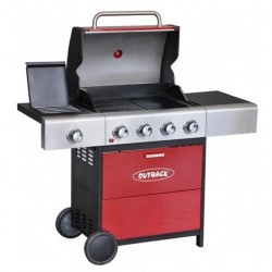Meteor Select 4 Burner Red Outback Barbecue