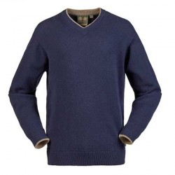 Musto Shooting V Neck Jumper in True Navy