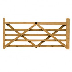 3.6 Metre Diamond Braced Planed Oak Field Gate blank