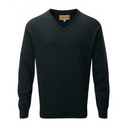 Schoffel Cotton Cashmere V Neck Jumper Forest