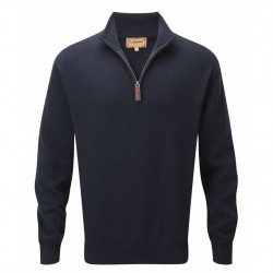 Schoffel 1/4 Zip Cashmere Cotton Jumper Navy