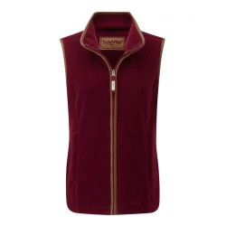 Schoffel Lyndon Ladies Fleece Gilet in Ruby