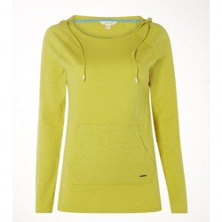 White Stuff Lichen Green Plain Get Up & Go Tee Long Sleeved