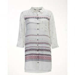 White Stuff Almond Cream Print Achak Tunic Shirt