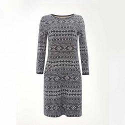 White Stuff Geo Jacquard Dress