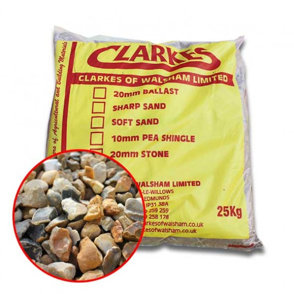 20mm stone 25kg bags