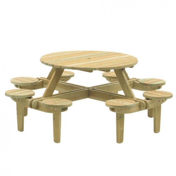 8 seater round picninc Table