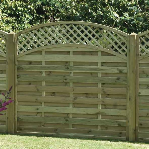 ALT180 Lattice Top Fence Panel