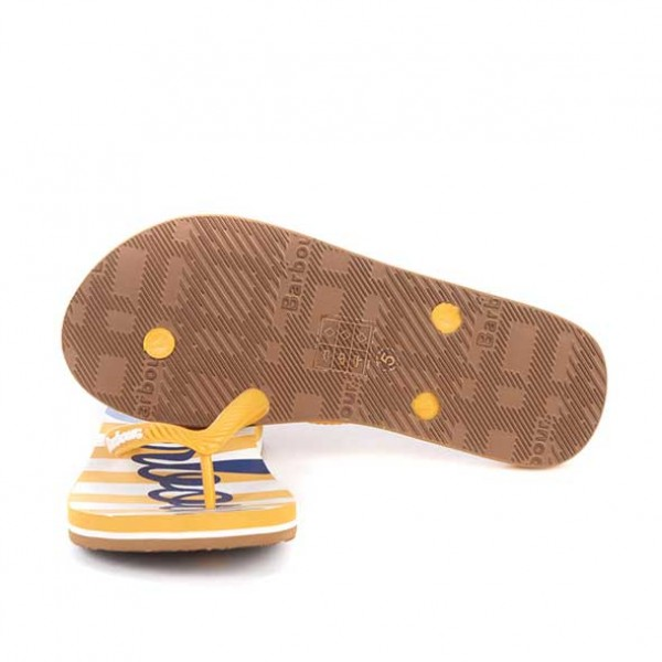 Barbour Beachcomber Sandals Gold and Navy