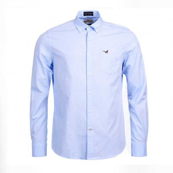 Barbour Berkshire Plain Pale Blue Shirt