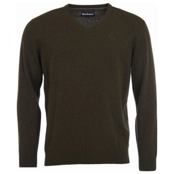 Barbour | Clothing - Sweaters - Essential Lambswool V Neck Jumper
