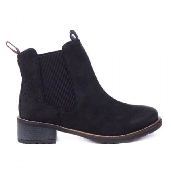 Barbour Ladies Latimer Black Waxy Chelsea Boots