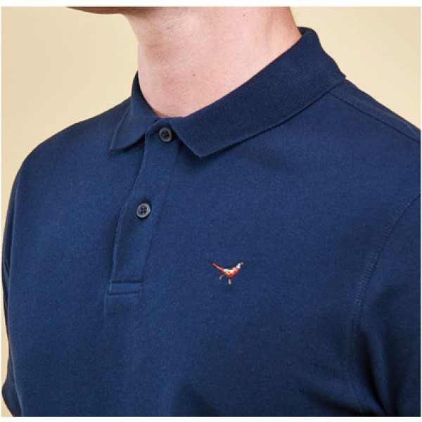 Barbour | Clothing - Polo Shirts - Navy Barbour Warkworth Polo Shirt