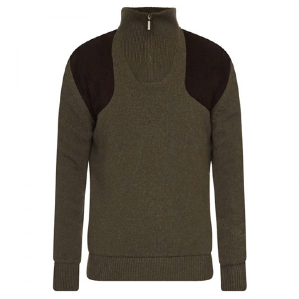 Barbour Seaweed Fellan Sports Half Zip Jumper | Barbour Pullovers