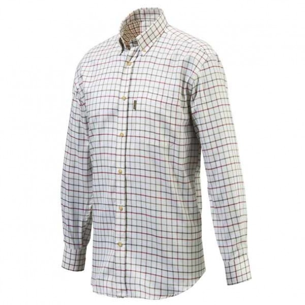 Beretta Red Check Classic Shooting Hunting Shirt Front