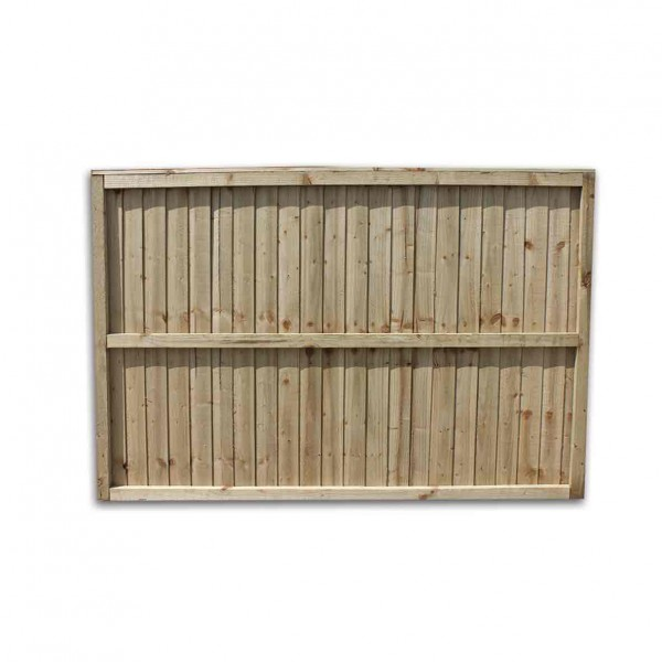 Close boarded Garden Fence Panel Green  4ft x 6ft  Back