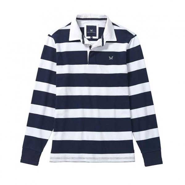 Crew Clothing Mens Long Sleeve Rugby Shirt