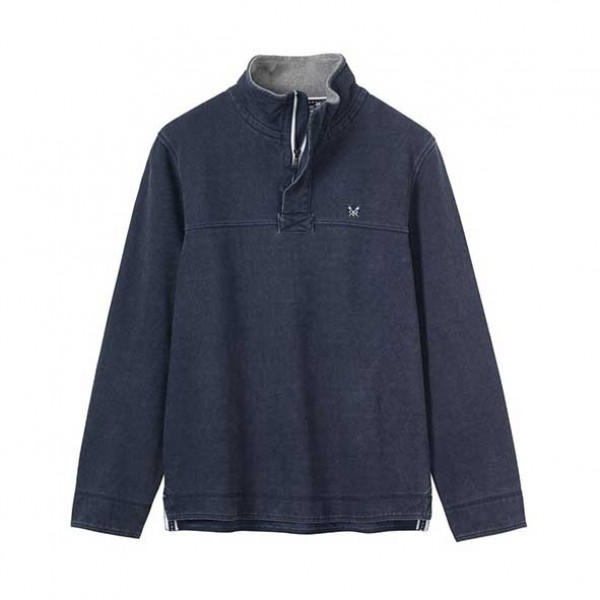 Crew Clothing Padstow Pique Navy Sweatshirt