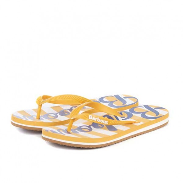 Barbour Beachcomber Thong Sandals Gold and Navy