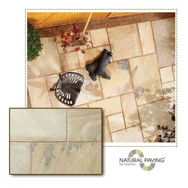 Golden Fossil Patio Slab Project Pack