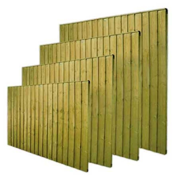 Close board garden fence for Buro 600 6ft ups