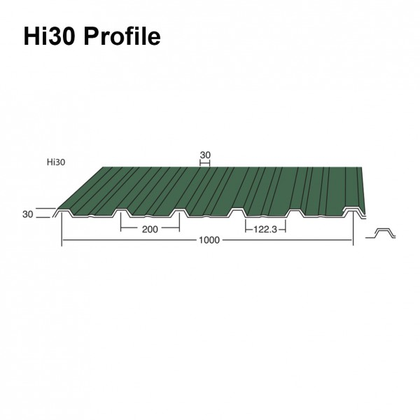Hi30 Box Profile Roofing Sheet Plastisol