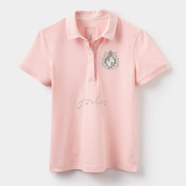 Joules Amity Soft Pink Polo Shirt