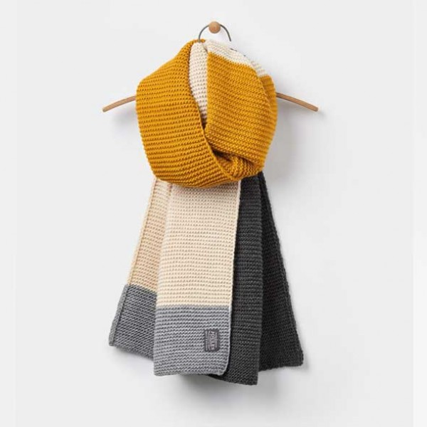 joules Annis Oversized Scarf in Antique Gold
