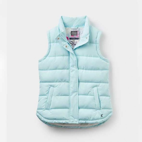 Joules Eastleigh Cool Blue Padded Gilet