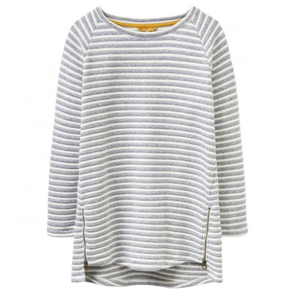 Joules Grey Lilou Striped Sweatshirt Jumper | Joules Tops