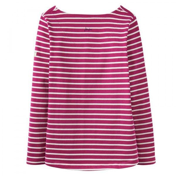 Joules Rube Stripe Harbour Print Jersey Top