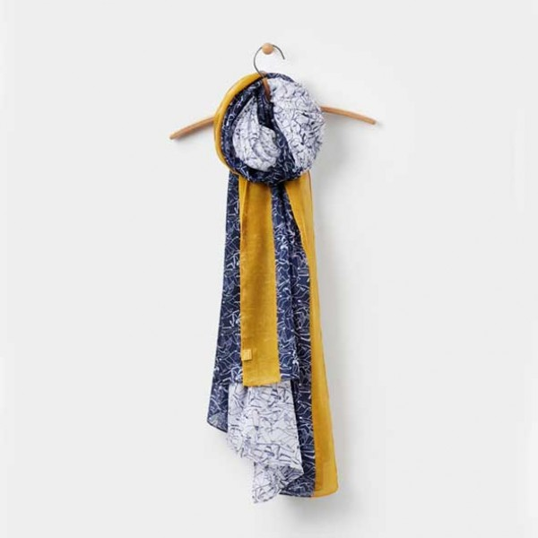 Joules  Harmony French navy Bird Print Scarf