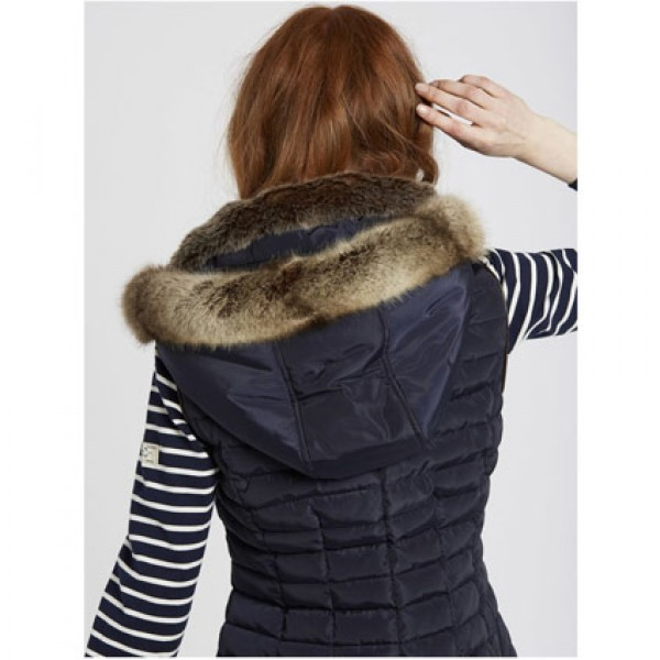 Joules | Clothing - Coats - Joules Black Quilted Melbury Hooded Gilet