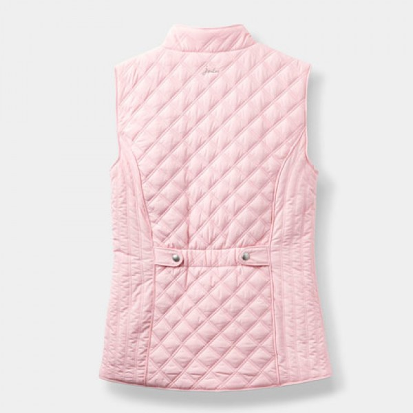 Joules Soft Pink Minx Quilted Gilet