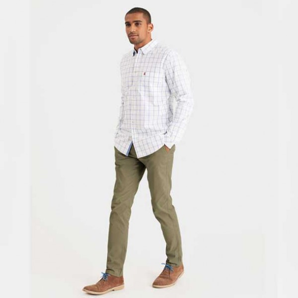 Joules Welford Classic Fit Blue Over Check Shirt