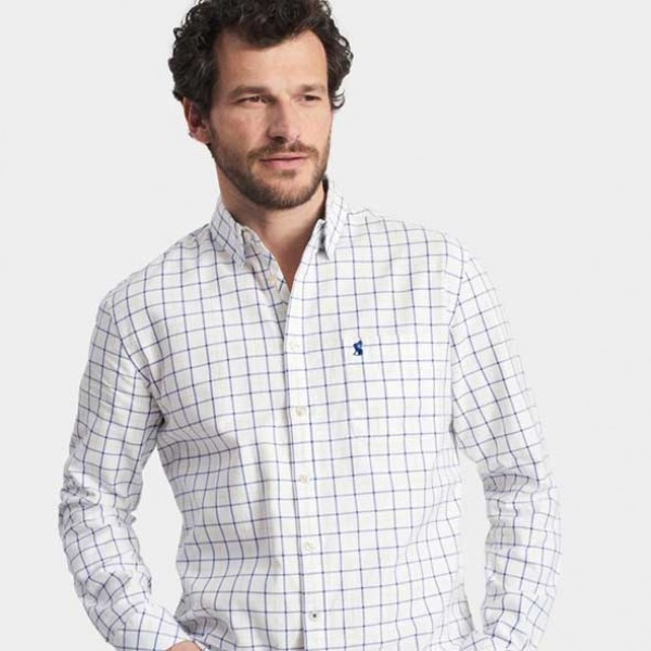 Joules Wilby Chalk Classic Check Shirt