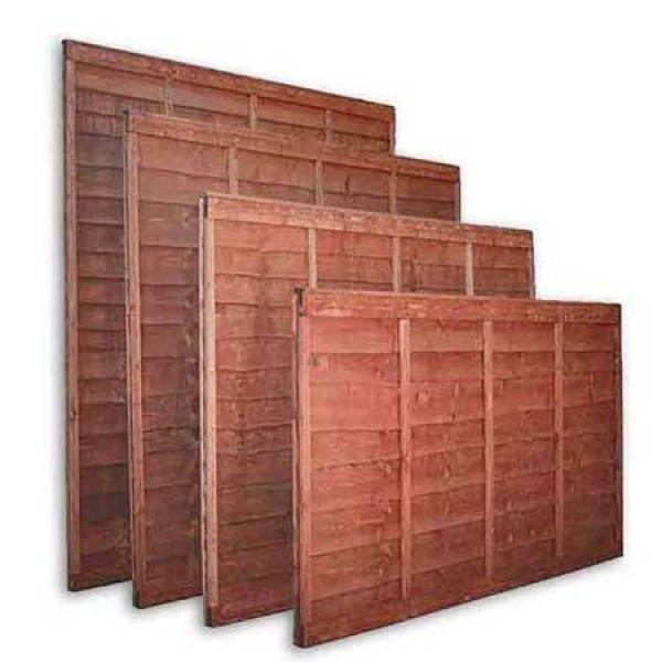 Lap fencing panels 5ft
