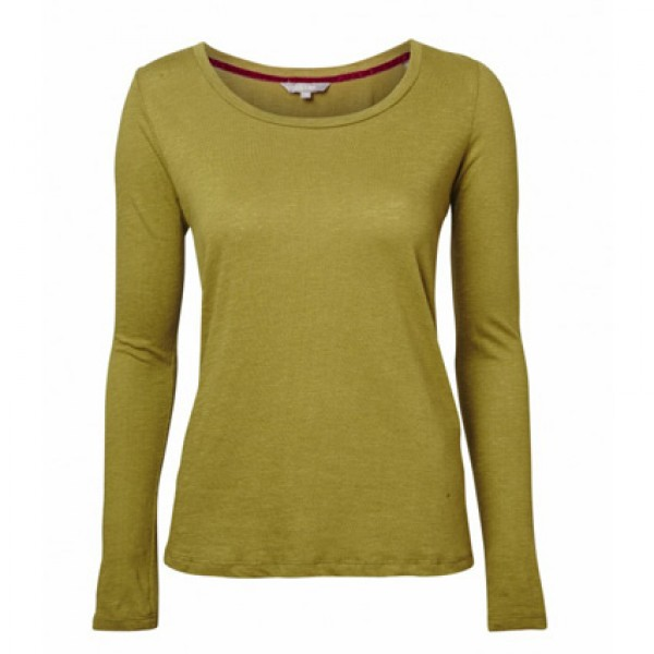 Lily & Me Green Plain Layering Tee