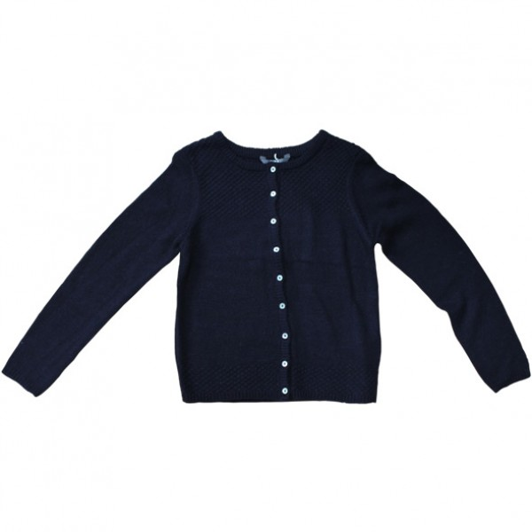 Lily & Me Essential Navy Plain Knit Cardigan