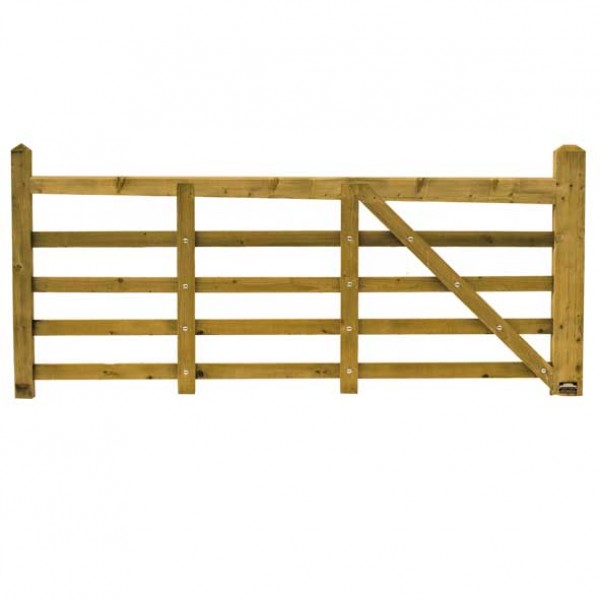 Norfolk Softwood Timber Gate 3 metre