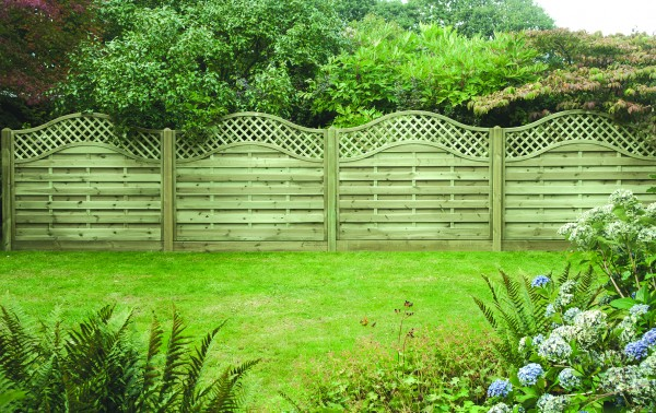 Omega Fence Panel Lattice Top 1.8mtr x 1.5mtr