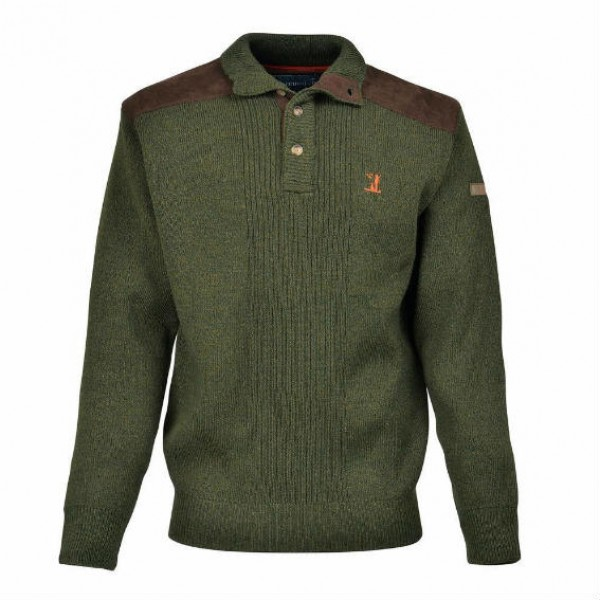 Percussion Hunting Shooting Button Up Collared Sweater